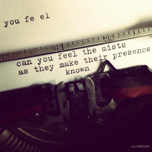 Typewriter spills poetic glimpses milliande 8
