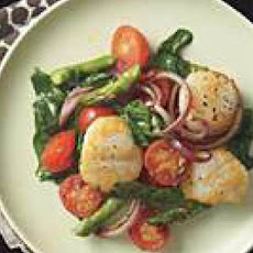 Seared Scallops and Spring Vegetables