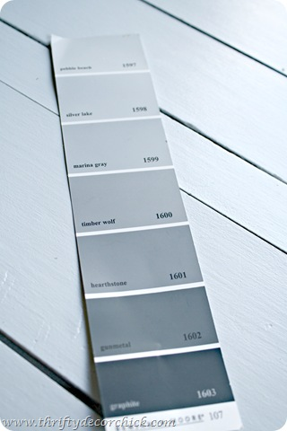 picking out basement paint colors from thrifty decor chick
