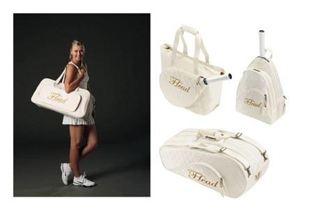 Sharapova sigue marcando tendencia: nuevos bolsos para raquetas de la marca HEAD.