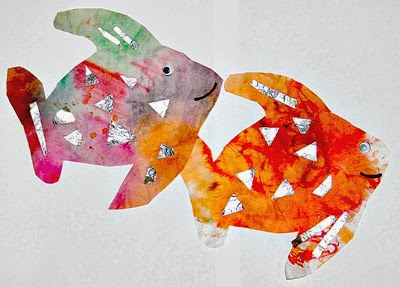 Rainbow Fish Coffee Filter from Juggling with Kids