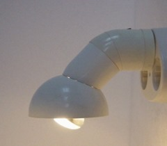 Unsigned lamp that plugs directly into the wall (European plug)