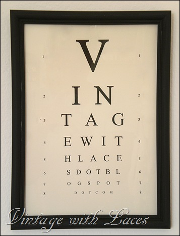 Eye Chart - Vintage with Laces