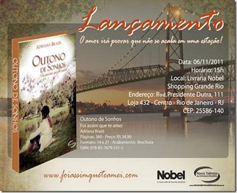 convite lançamento outono de sonhos