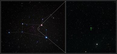 estrela SDSS J102915+172927 na constelação de Leão