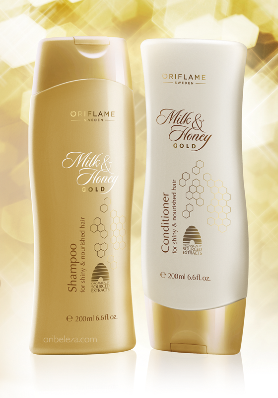 Champô e Condicionador Milk & Honey Gold da Oriflame