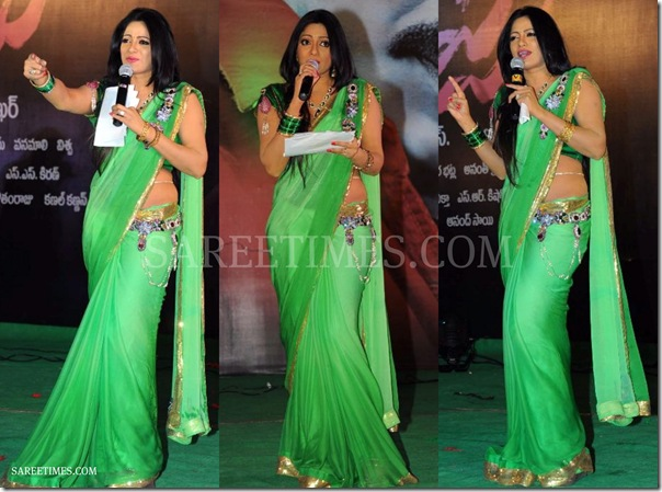 Udaya_Bhanu_Green_Saree