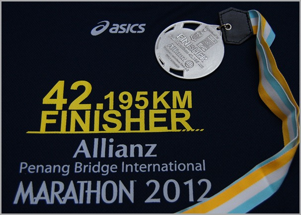 Penang Bridge International Marathon 2012 Finiasher T & Medal