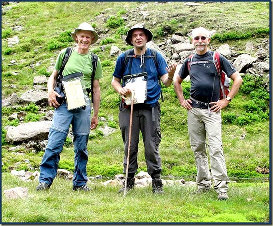 Martin, Stuart and Rick pose at Foxes Tarn