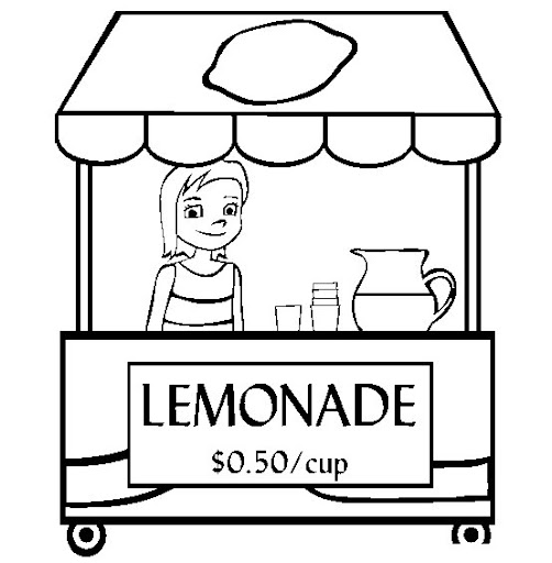 Pitcher of lemonade coloring pages for Lemonade coloring page