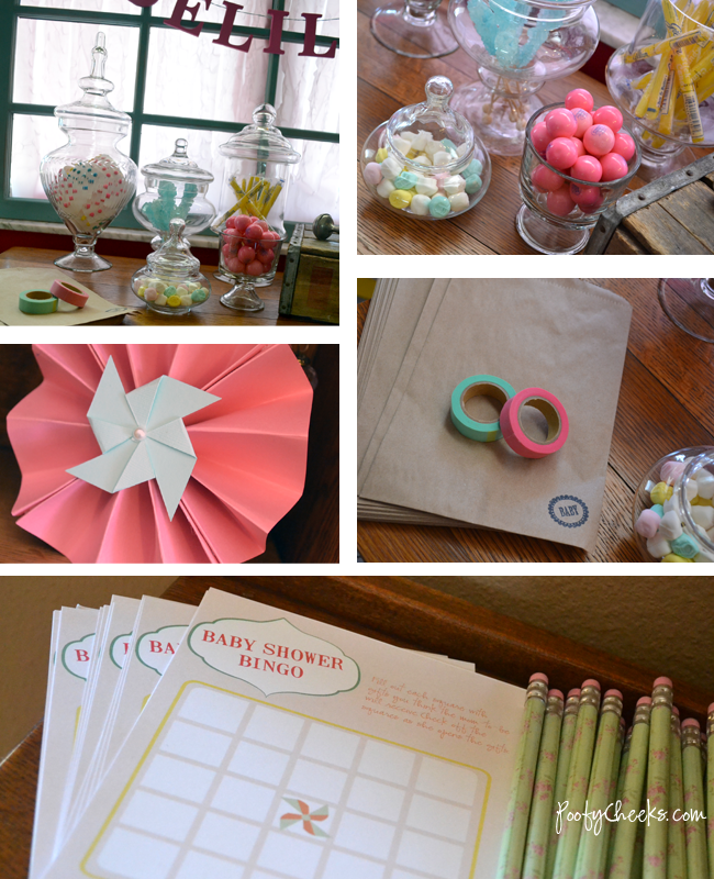 Free Pinwheels & Pearls Baby Shower Printables