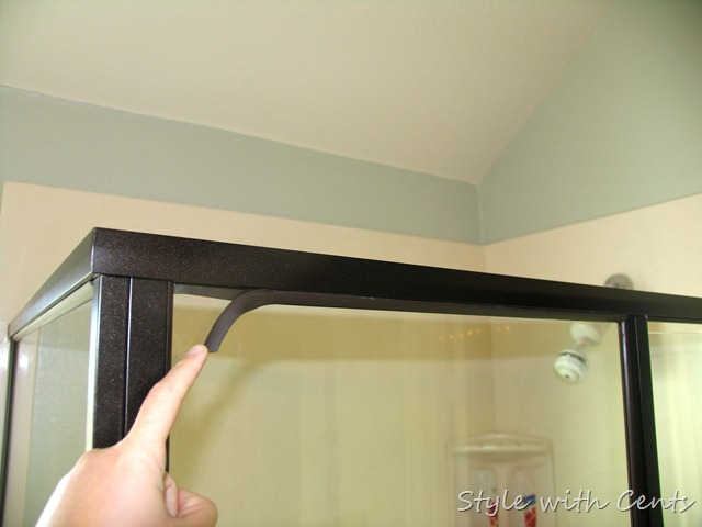 Style with cents how to disassemble your shower trim for How to spray paint doors