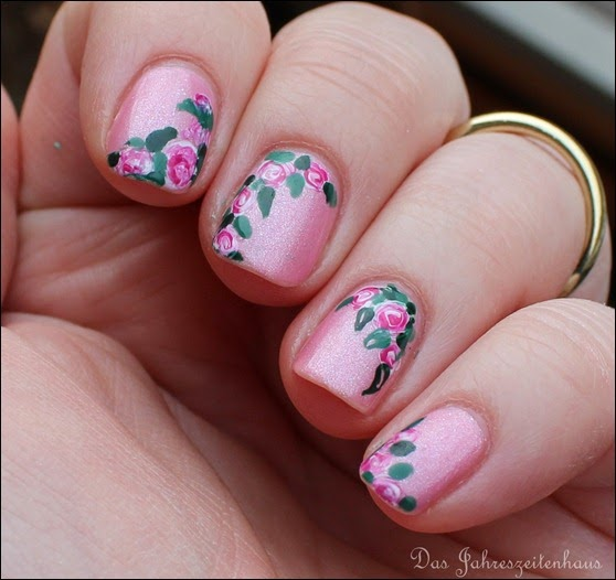 00 Roses in Bloom Nail Art Rosen Blüten Rosa 3