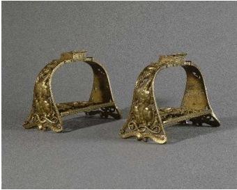 Etriers en bronze doré de François 1er