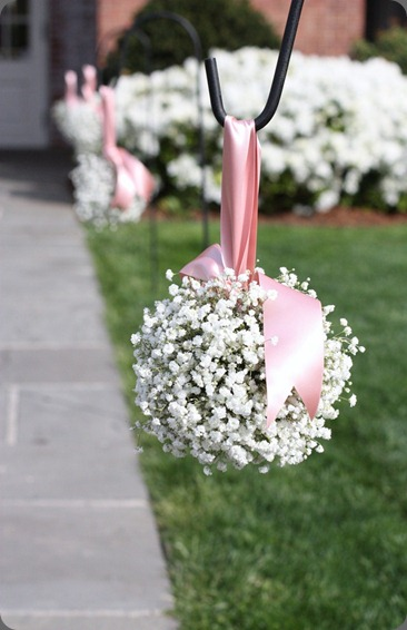 babys-breath-pomander blush floral design