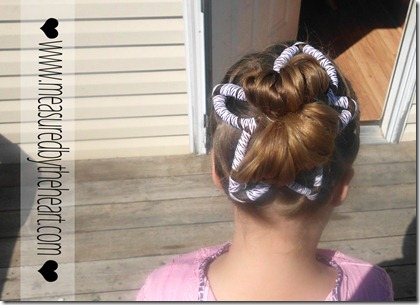 cute star hair for the 4th of july