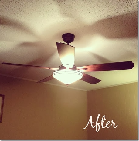 Living Room Ceiling Fan After