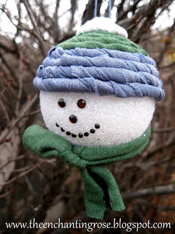 tshirt snowman ornament