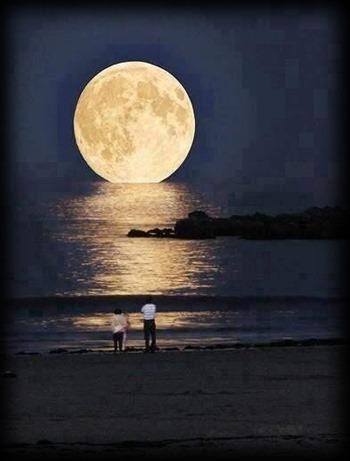 california la luna en su punto mas cercanoa ala tierra