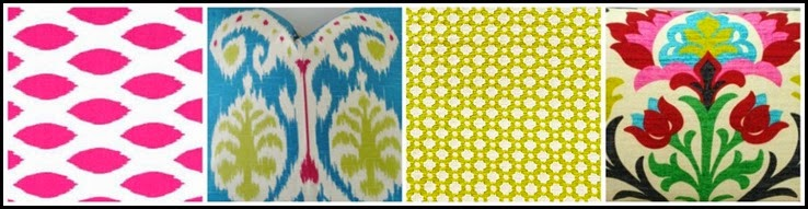 Ribbet collage familyroom bright spring pillows3