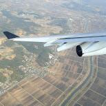 airplane turning in Chiba, Tokyo, Japan
