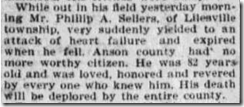 P. A. Sellers Obit, Charlotte Observer, 3 July 1902, Page 4
