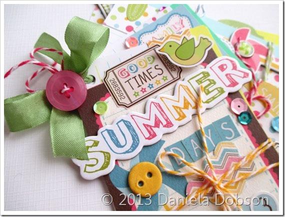 Summer days mini album close by Daniela Dobson
