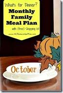 Meal Planner - October