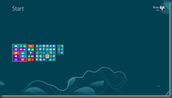 The zoomed out view of the Start screen