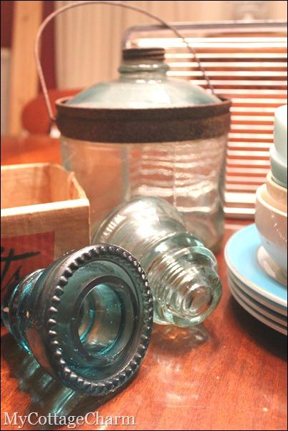 vintage glass jub