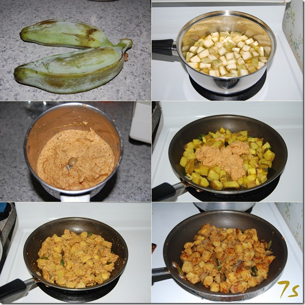 Spicy vazhakkai fry process