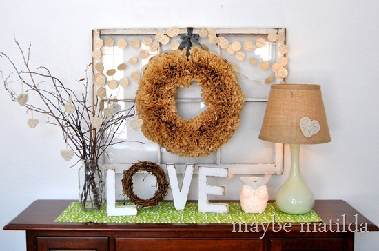 How to make a rustic 'love' sign