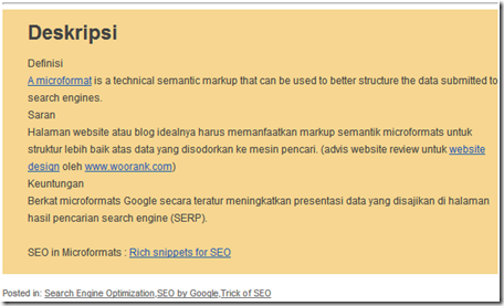 rich snippets Microdata di Blogroll website design