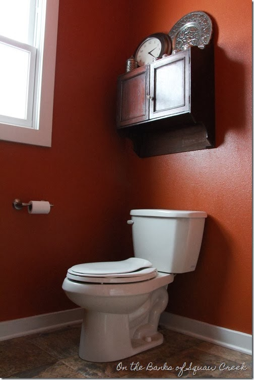 cabinet above the toilet