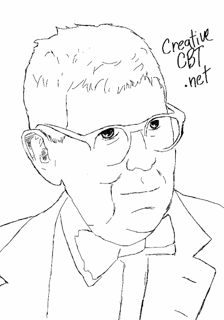 Sketch of Aaron T. Beck - the founder of Cognitive Therapy