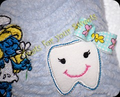 Smurfette tooth pillow (4)