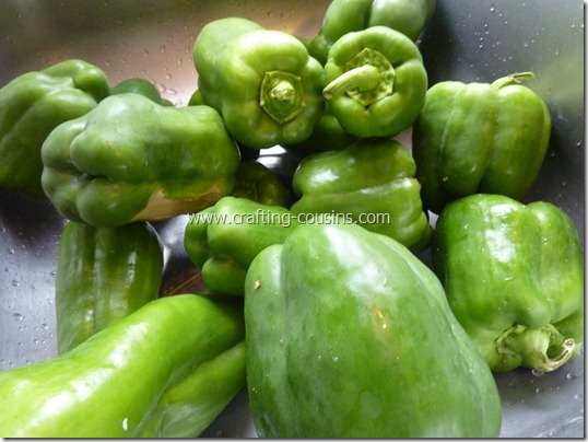 Prepare peppers for freezer storage (6)