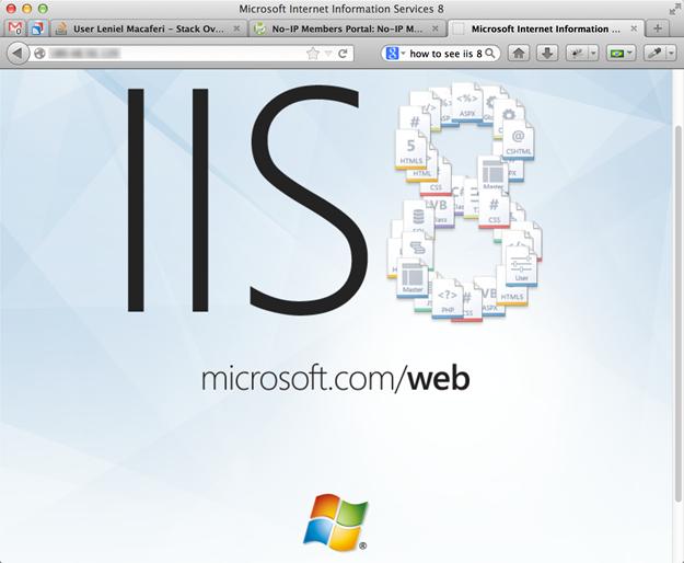 IIS 8 Default Web Site page
