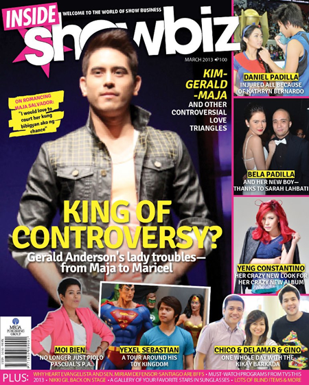 Gerald Anderson on the cover of Inside Showbiz March 2013