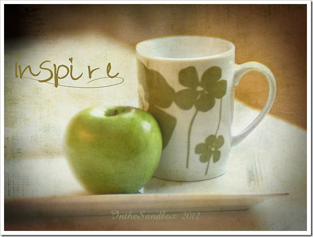 Apple and cup for web and logo