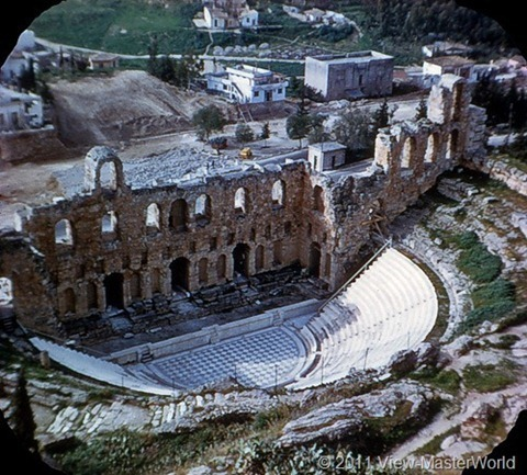 View-Master Athens (B206), Scene 15: The Odeon Theatre, reconstructed, seats 5,000