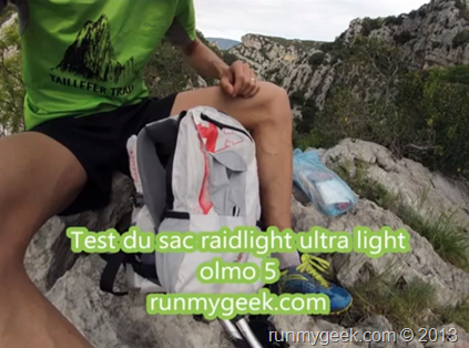 test du sac raidlight ultra light olmo 5