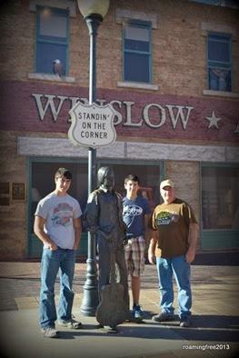 Standin' on the Corner in Winslow, AZ