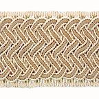 Taśma szeroka do zdobienia i wykańczania mebli tapicerowanych, dekoracji tekstylnych - poduszek, zasłon, narzut.