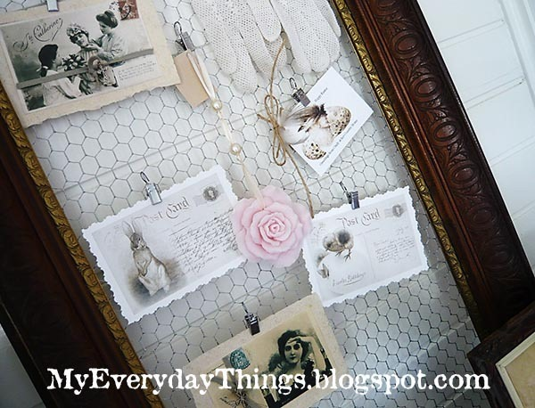 Chicken wire frame inspiration board