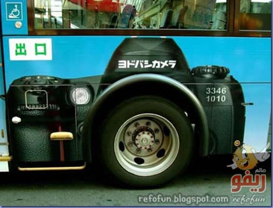 فن الاعلان على الحافلات عالم ريفو2