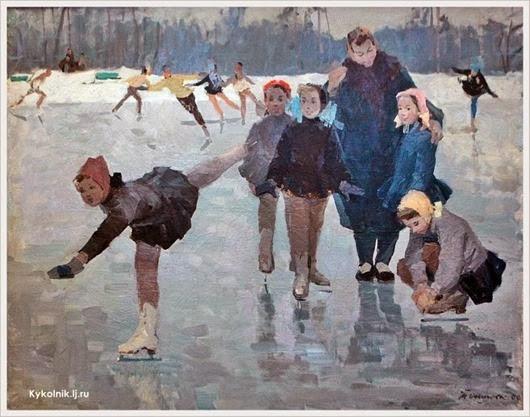 Осипова Тамара Александровна  (Россия, 1924-1989) «Счастливое детство» 1964