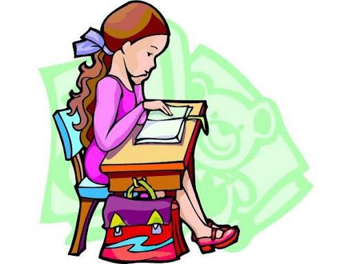 Imagenes animadas de niña estudiando - Imagui
