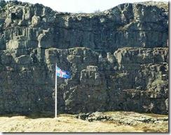 thingvellir National Park flag and law stone