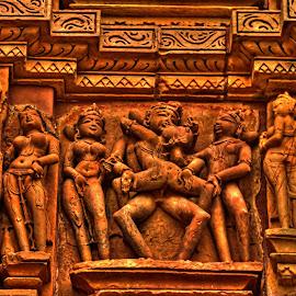 Sex Position, Khajuraho, MP, India by Sudipto Bhaumik - Buildings & Architecture Statues & Monuments